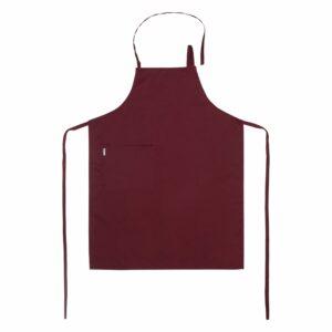 Bröstförkläde Vinröd